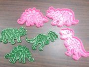 Cortador e Marcador dinossauros fossil