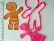 Cortador e marcador ginger 10cm natal