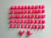 Mini marcador letras numeros 51 peças