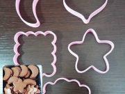 Cortador Biscoito quadrado, lua, estrela, coração e nuvem 6cm