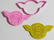 Cortador e Marcador Biscoito Yoda Star Wars  7cm