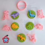 Cortador Dinossauros 5cm (cupcake)